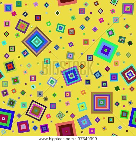 Colorful seamless figures pattern.