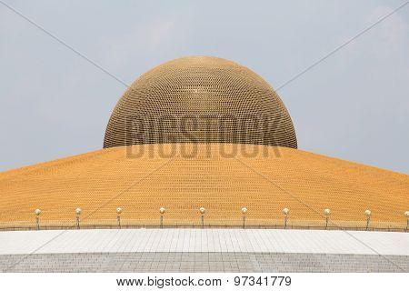 Million Golden Buddha Figurine In Wat Phra Dhammakaya. Buddhist Temple In Bangkok, Thailand