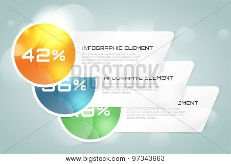 Web banner infographic template. Business presentation and information design, web element, creative idea or paper, pattern, arrows, graph. Stock illustration. Design vector elements