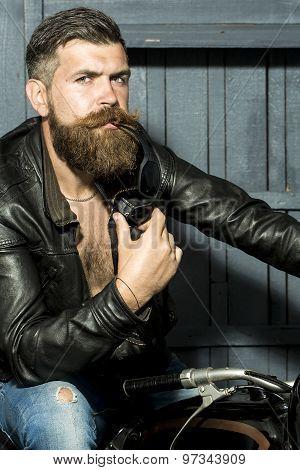 Attractive Male Biker