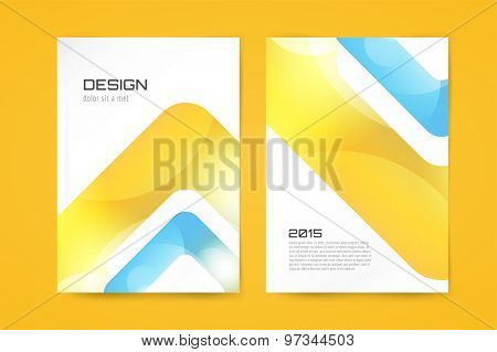 Vector globe brochure template. Abstract arrow design and creative magazine idea, blank, book cover or banner template, paper, journal. Stock illustration