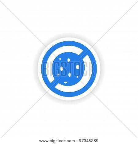 icon sticker realistic design on paper bacteria
