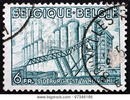 Postage Stamp Belgium 1948 Iron Manufacture