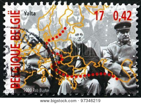 Postage Stamp Belgium 2000 Yalta Conference
