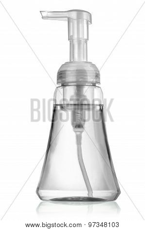 White Container Of Spray Bottle