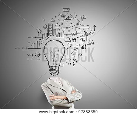 Having great idea in head