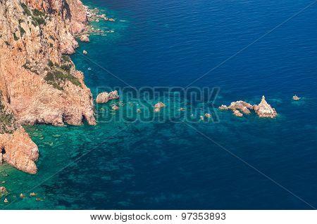 Coastal Landscape Of Corsica Island, Summer