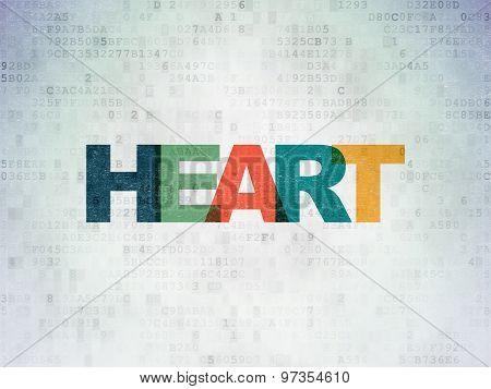 Medicine concept: Heart on Digital Paper background