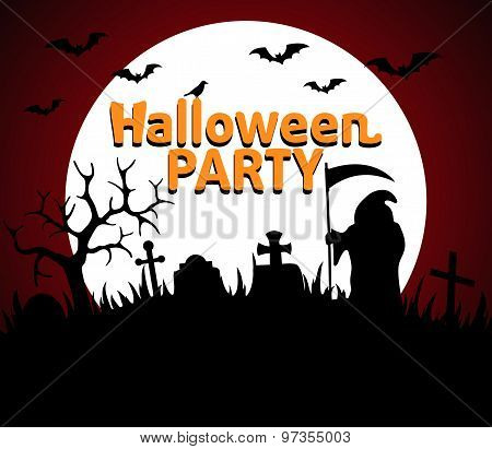 Halloween Party Background Red