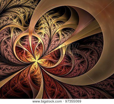 autumn curles, fractal