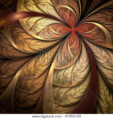 autumn leaves, fractal