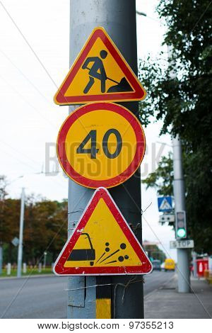 Group Cautionary Road Signs