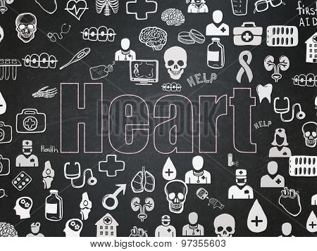 Health concept: Heart on School Board background