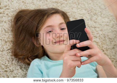 Happy Girl With Mobile Phone
