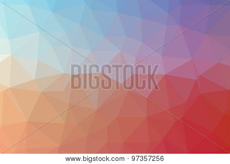 Low poly - Colorful abstract geometric background with triangular polygons.