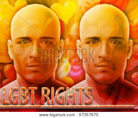 Abstract background digital collage concept illustration LGBT rights Lesbian Gay Bisexual