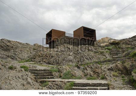The remains of a holiday resort in Cap de Creus (Catalonia, Spain)