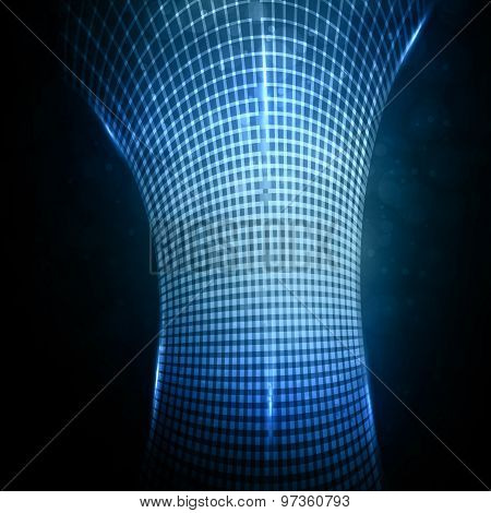 Abstract  futuristic illustration