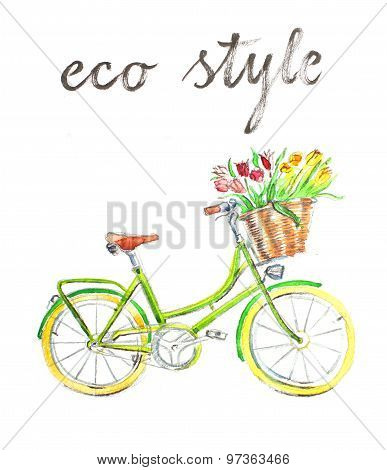Watercolor Bike