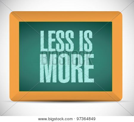 Less Is More Chalkboard Sign Concept