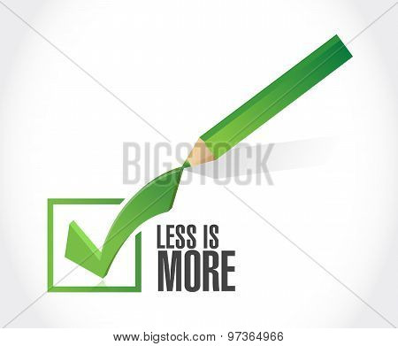 Less Is More Check Mark Sign Concept