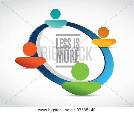 Less Is More People Community Sign Concept