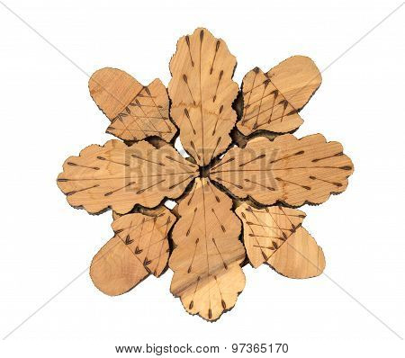 Wooden Stand Under The Hot Pan Or Teapot