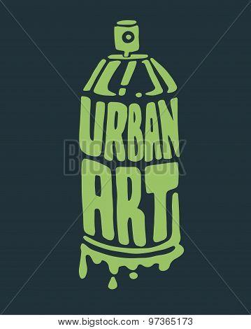 Urban Art Spray Can