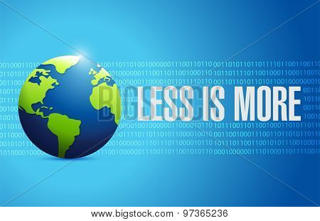 Less Is More International Sign Concept