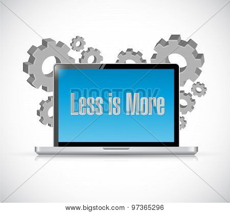 Less Is More Technology Sign Concept