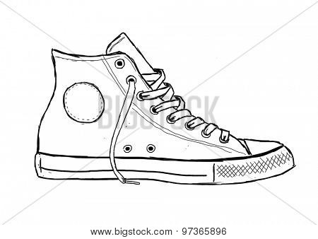 Classic Sneaker Sketched