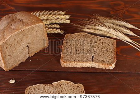 Loaf Of  Wheat,rye Bread And Sliced Bread