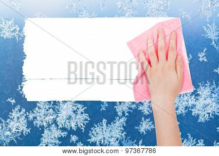 Hand Deletes Winter Frosty Pattern By Pink Rag