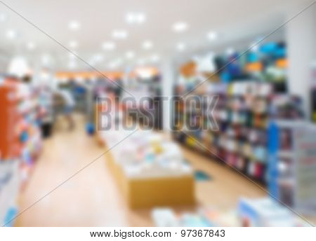 blurred photo of book store