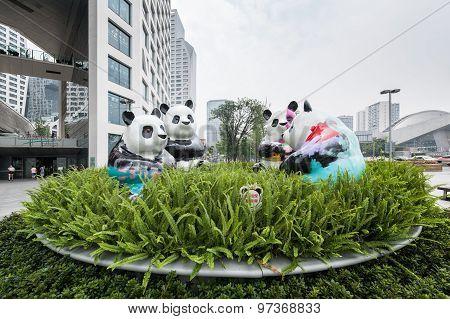 Chengdu Panda Sculpture