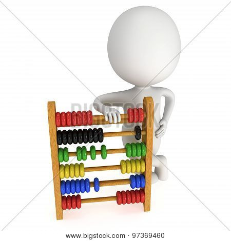 3D Man With Toy Abacus