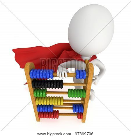 3D Superhero With Toy Abacus