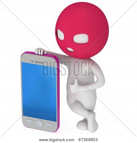 3D Thief With Smartphone