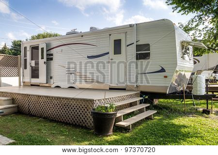 Mobile Home On Camping