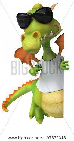 Dragon with a white tshirt