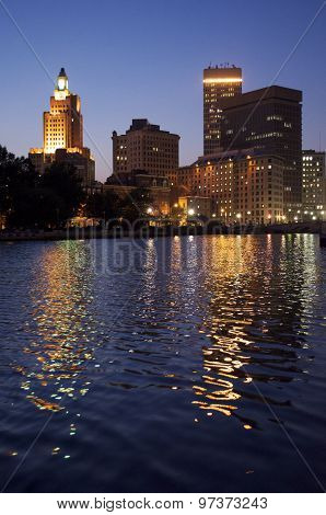 Providence River Front from the South in the Summer
