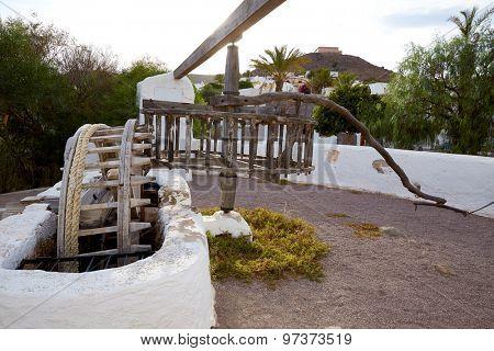 Almeria Cabo de Gata watermill in Pozo de los Frailes village of Spain