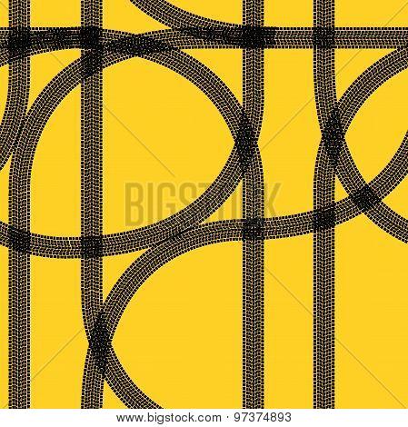 Seamless Wallpaper Winter Tire Tracks Pattern Illustration