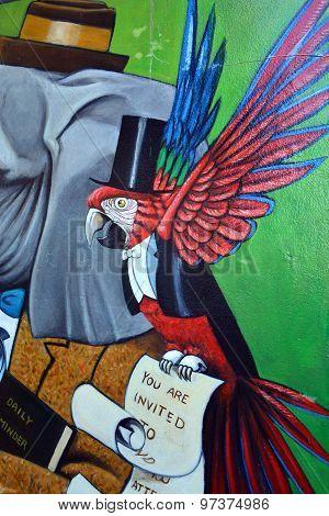 Weird animal mural