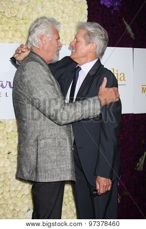 LOS ANGELES - JUL 29:  Barry Bostwick, Bruce Boxleitner at the Hallmark 2015 TCA Summer Press Tour Party at the Private Residence on July 29, 2015 in Beverly Hills, CA