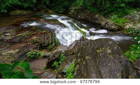 Roadside Smoky Mountain Waterfall
