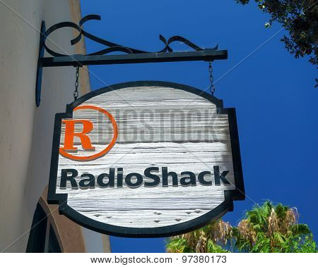 Radioshack Store And Sign