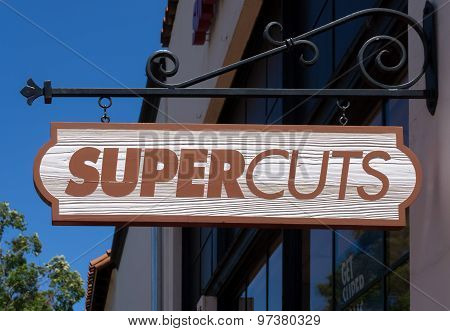 Supercuts Hair Salon Store And Sign