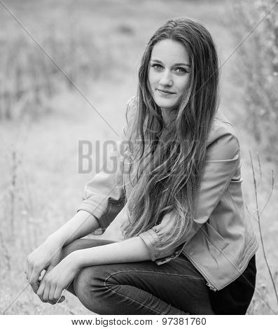 Teenage Girl Outdoor Portrait