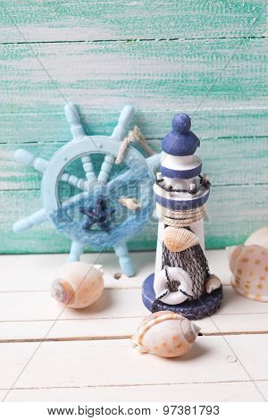 Decorative Lighthouse,  Helm And Marine Items